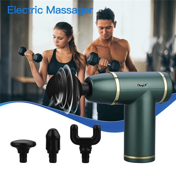 best selling CkeyiN 4D Smart Electric Neck Shoulder Back Pulse Massager Deep Muscle Massage Relax Portable Fascia Gun Machine Pain Relief
