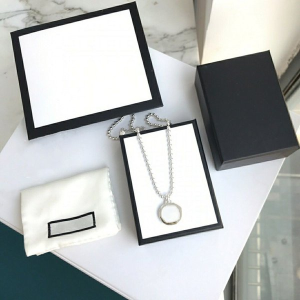 top popular Fashion Necklace Street Unisex Bracelet Circle Pendant Necklaces for Man Woman Jewelry 2021