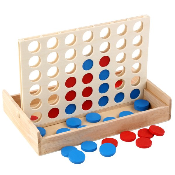 best selling Line Up Classic Family Board Fun Educational Toy for Kids Children Boys Girls Gifts Four In A Row Wooden Bingo Party Games Toy