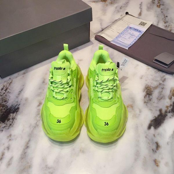 2021 Paris Crystal Bottom Triple S Casual Shoes Dad Shoes Platform Triple S Sneakers For Men Women Vintage Kanye Old Grandpa Trainer Shoes