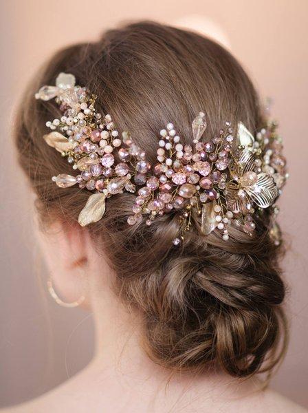Bridal Gold Leaf Headband Bridal Hair Vine Bridal Hair Piece Hair Accessories Wedding Accessories