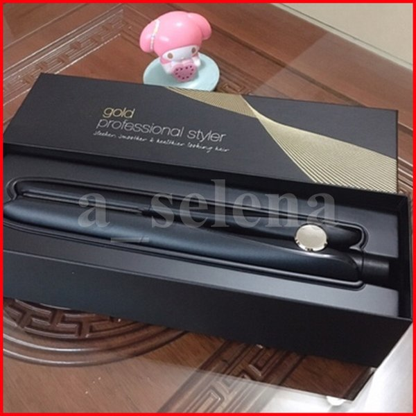 top popular Gold Hair Straightener Classic Professional styler Fast Straighteners Iron Styling tool with EU Plug high quality 2021