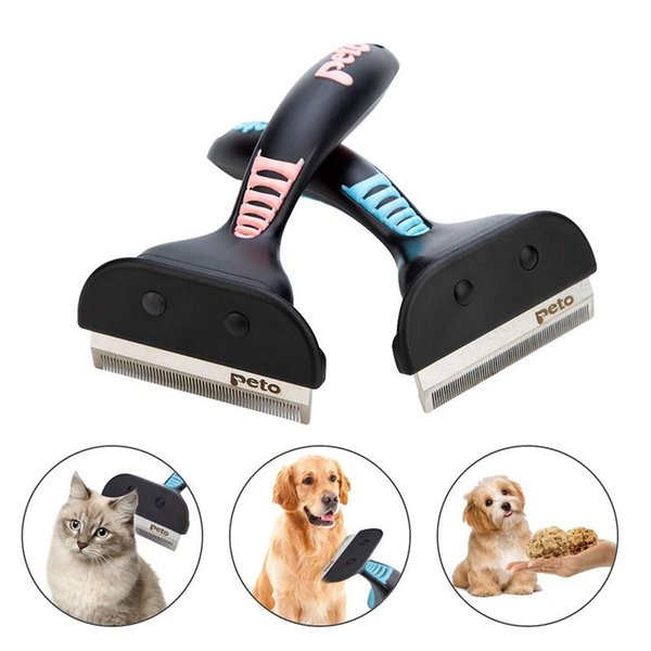 Cat Shedding Hair Removal Comb Cat Dog Grooming Brush Tools Hair Finishing Trim Brusher Hair Cleaner For Dogs Cats Pet Supplies