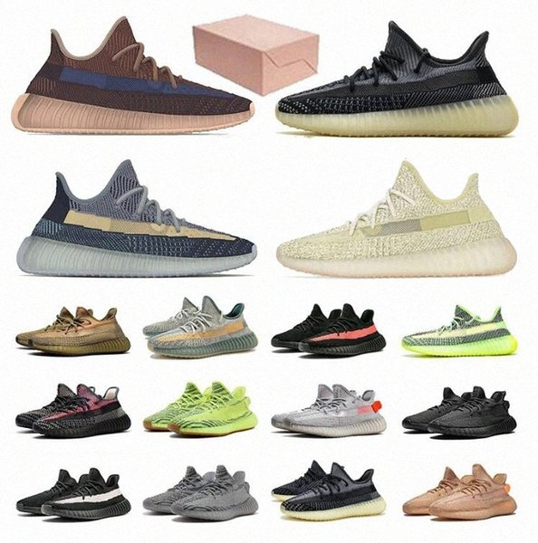 best selling 2021 Kanye Men V2 Running Outdoor Reflective Shoes West Mono Clay Ice Mist Women Ash Blue Pearl Stone Cinder Zyon Trainers Sneakers 36 k7M4#