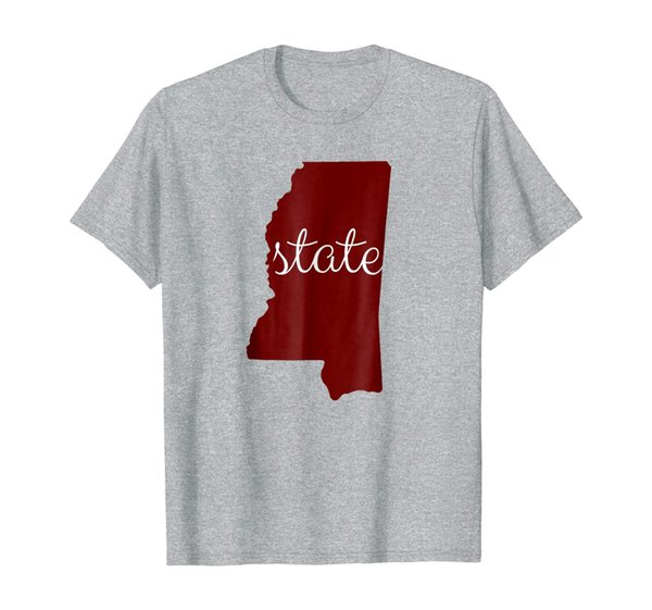 Mississippi State Shirt: State Lover Outline Fan Tee Unisex