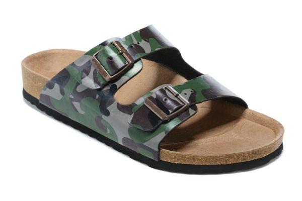 top popular [With box]2021 Women Summer Beach Cork Slipper Men flats Clogs sandals unisex casual shoes Fashion Two Buckle Slides non-slip flip flops size 35-45#90 2021