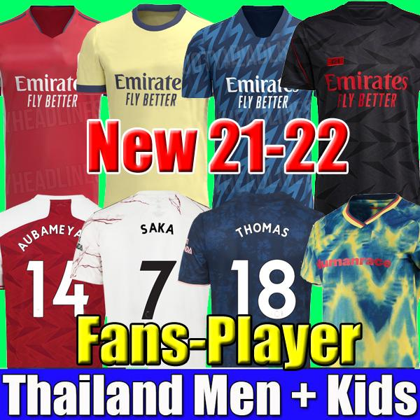 best selling Fans Player version 424 Arsen soccer jersey 20 21 22 gunners ODEGAARD THOMAS PEPE SAKA TIERNEY HENRY WILLIAN SMITH ROWE 2021 2022 football shirt Kid sets uniform