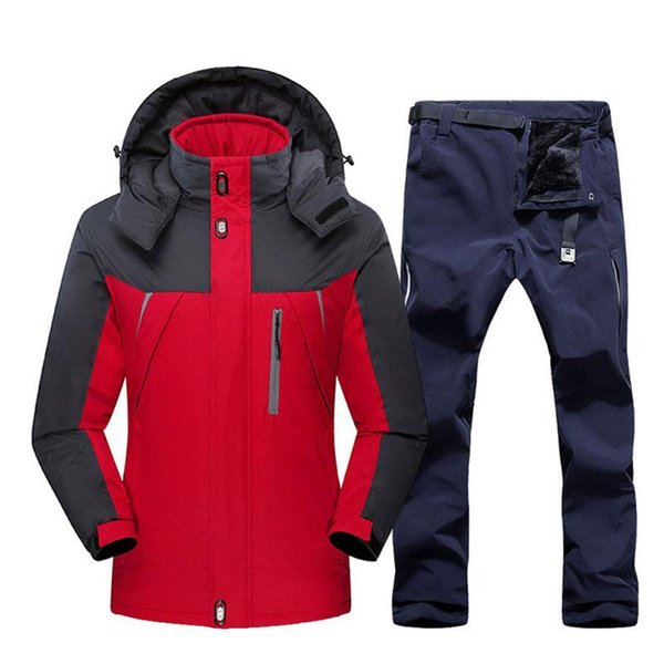 best selling Men's Ski Suit Windproof Waterproof Skiing Snowboarding Jackets And Pants Winter Outdoor Sports Ski Set Men Warm Fleece Jackets