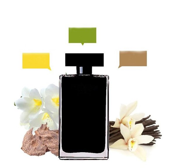 top popular 2 different perfume rose red and black bottle Attractive fragrance for women long lasting time free Fast Delivery 2021