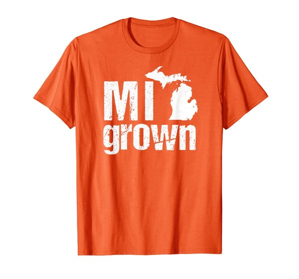 Michigan Tshirt Vintage MI State Grown Home Gift T-Shirt