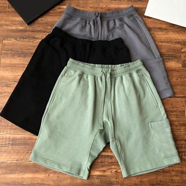 best selling Summer Men shorts Joggers Pants Male Trousers Mens-Joggers Solid black blue-Pants Cotton-shorts M-2XL high quality 611 602