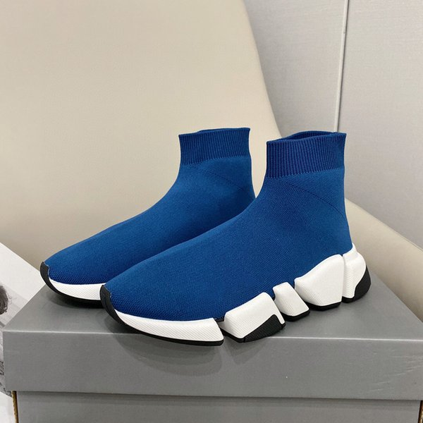 best selling [With box]2021 designer sock sports shoes mens speed 2.0 trainers luxury women men runners trainer sneakers socks boots platform size 36-45#579