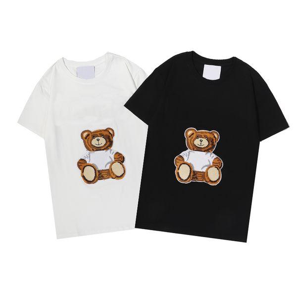Summer Designers T Shirts Mens Womens Bear Toy Print Women Men S Clothing Short Sleeves Tee Shirt 2021 210316V
