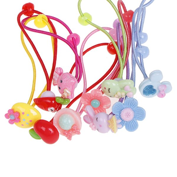 10Pcs Girl Elastic Rope Ring Hairband Candy Color Hair Band Kid Hair Accessories Ponytail Holder Kids Hair Accessories