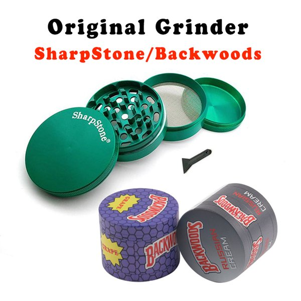 best selling Smoking Electric Tobacco Herb Grinder sharpstone 40 50 55 63mm Zinc Alloy Metal Crusher mix color
