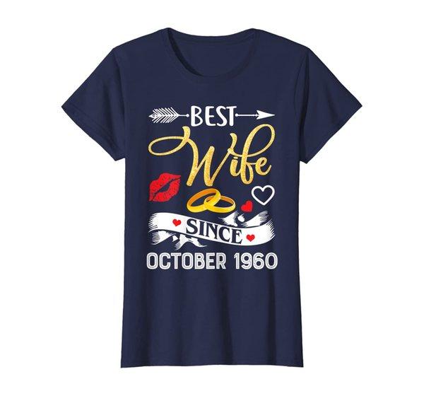 Womens 59th Wedding Anniversary Shirts Best Wife Since 1960 T-Shirt