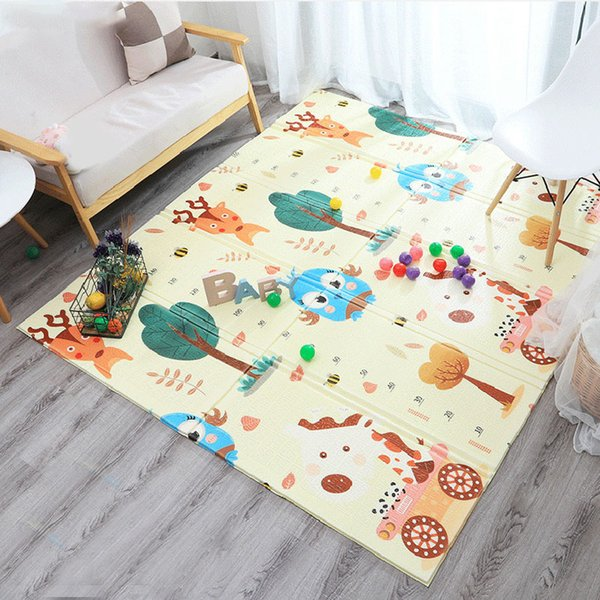 top popular Cartoon Baby Play Mat Foldable Puzzle Pad Toys for Children's Mat Baby Climbing Kids Rug Gym Eduactional Games Mats 2021