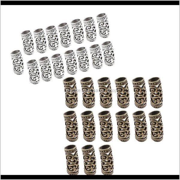 best selling Sprays Care & Styling Tools Products Drop Delivery 2021 30Pcs Dreadlock Beads Rings Adjustable Hair Braid Cuff Clip Tubes Set Eha2B