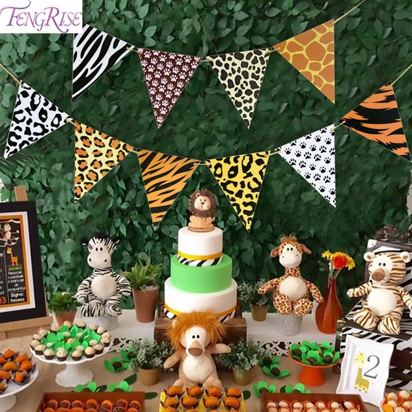 best selling Animal Banner Jungle Party Decoration Safari Birthday Decoration Jungle Theme Party Safari Party Favors Baby Shower Boy