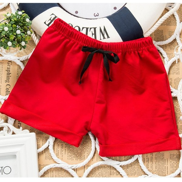 top popular Summer Boys' and Girls' Pure Thin Capris Children's Shorts All Cotton Beach Casual Pants 2021