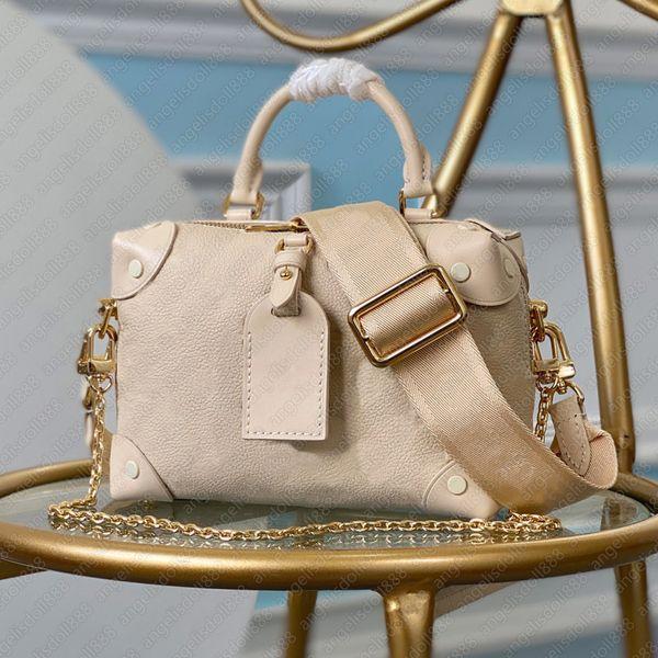 Luxury designer handbags women Single handle hand bag empreint genuine leather plain flowers letters logos embossed shoulder trunk bags