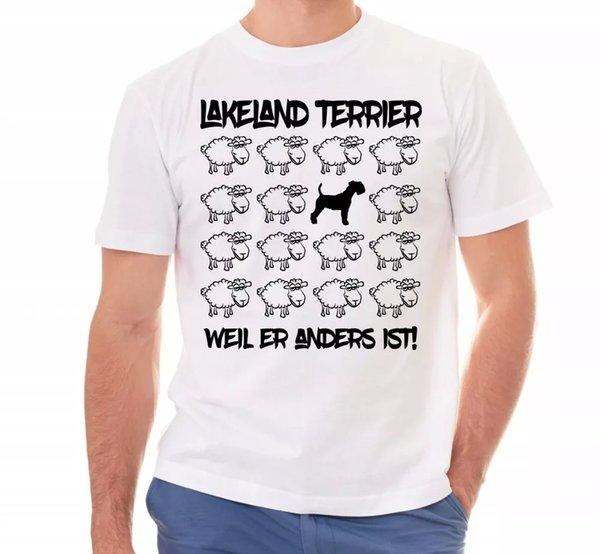 Lakeland Terrier Unisex T-Shirt Black Sheep by siviwonder