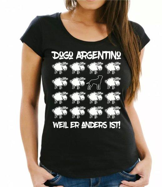 Dogo Argentino Womens T-Shirt Black Sheep by siviwonder Women Dog Dogs Fashion