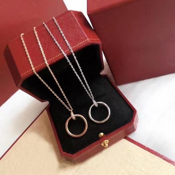 top popular Pendant Necklace Fashion Round Necklaces Stone for Man Woman Design Personality 8 Option Top Quality with box 2021