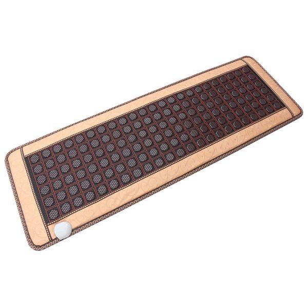 top popular Heating Jade Stone Infrared Massage Sofa Cushion with Temperature Display Bed Sofa Mattress Health Care Germanium Stone Mat 2021