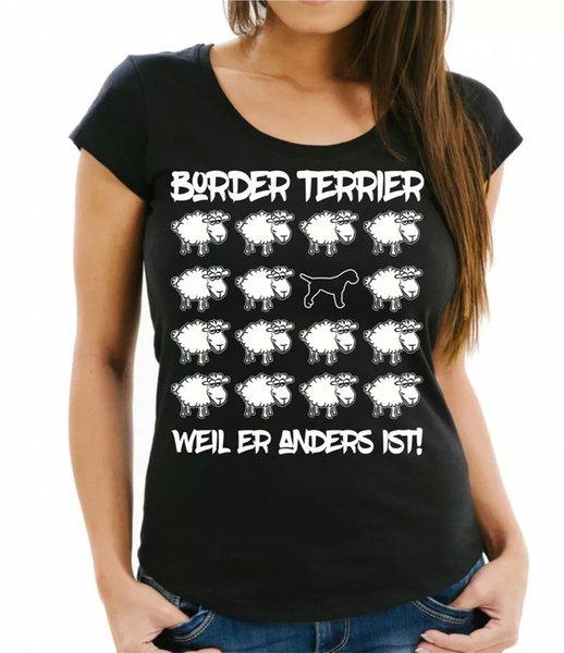Border Terrier Ladies T-Shirt Black Sheep by siviwonder Women Dog Dogs Fashion