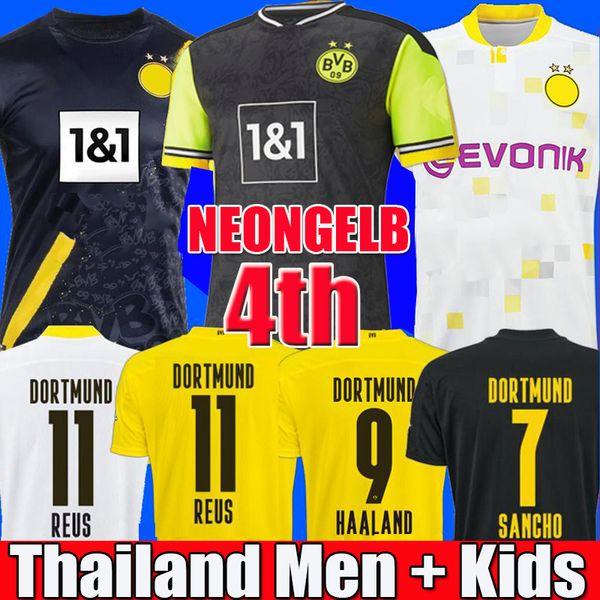 best selling HAALAND REUS Borussia 20 21 dortmund 4th soccer jersey 2020 2021 football shirts BELLINGHAM SANCHO HUMMELS BRANDT men + kids kit maillot de foot