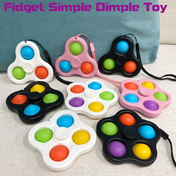 best selling 2 in 1 Creative Finger Bubble Music Fingertip Gyro Trouble Toy Keychain Decompression Toys
