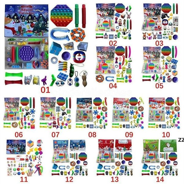 best selling Share to be partner 24pcs Christmas Fidget Toy Blind Box Party Advent Calendar for Girls Boys Kids Adults Surprise Relief Stress Count Down Holiday (Customized)