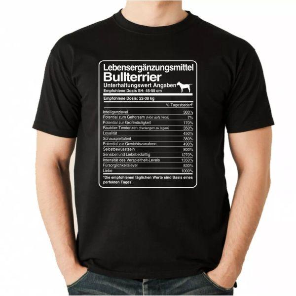 T-Shirt Unisex dose Bull Terrier Life Supplements Men Dog Bull Terrier