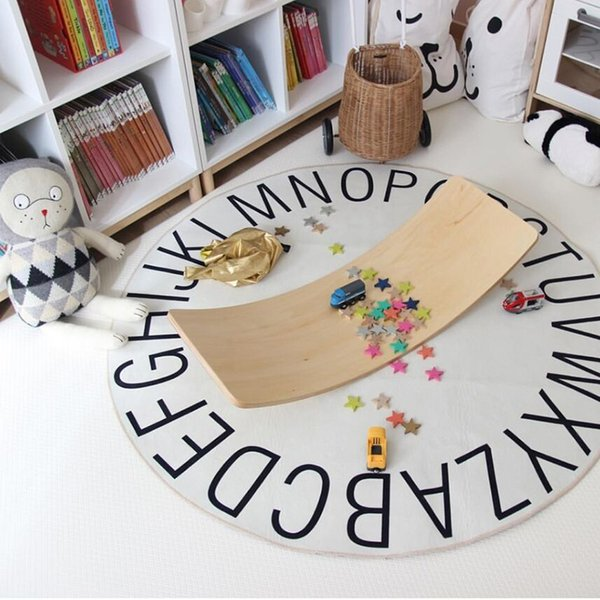 top popular 26 Alphabet Baby Play Mat Round Kids Rug Toys for Children Room Decor Educational Gym Activity Carpet in the Nursery 2021