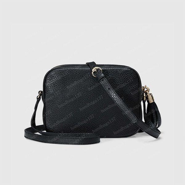top popular 2021 soho disco camera bag Crossbody Womens Shouler Bags black Leather Clutch Backpack Wallet Fannypack 308364 21 15 7cm #XYB01 2021