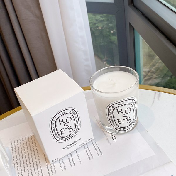 best selling Roses Candle 190g Fragrance Brand Paris Scented Bougie Parfumes Candles 6.5oz Long Lasting Good Smell Parfum Wax with Sealed Box high quality