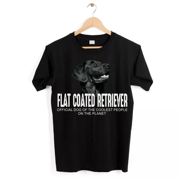 Flat Coated Retriever Flattie Dog Unisex Shirt Official Dog Cool People Funny H