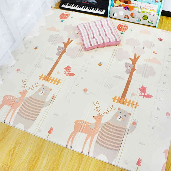 top popular Environmentally Friendly Thick Baby Crawling Play Mats Folding Mat Carpet Play Mat For Children's Kid Rug Playmat 2021