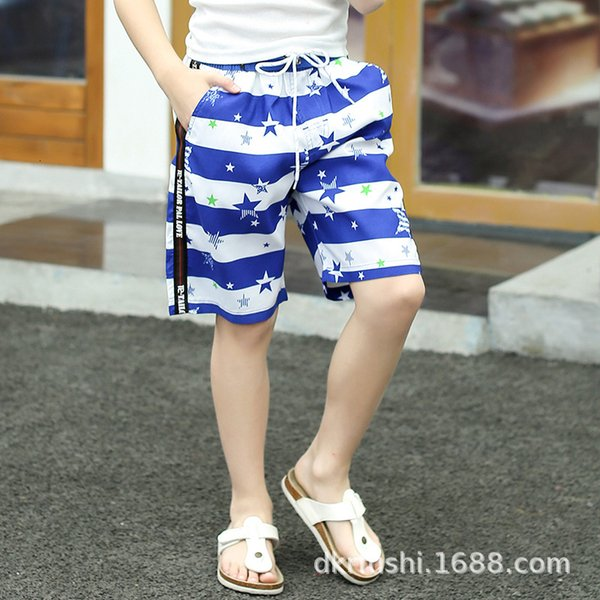 best selling Tailor Pallove Children's Beach Loose Stripe Surfing Pants Fashion Casual Capris Boys 1911