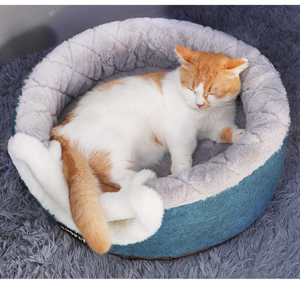 Winter Warm Sleeping Dog Cat Bed House Small Dogs Cats Nest Soft Plush Kennel Puppy Cushion Pet Dog Bed Pet Mat Supplies