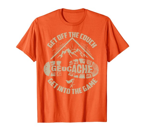 Cool Geocache Get Off The Couch Get Into The Game Shirt Gift