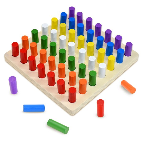 top popular Materials Toys Educational Games Wooden Stacking Blocks Math Toys Children Board Games Early Educational Toys 2021