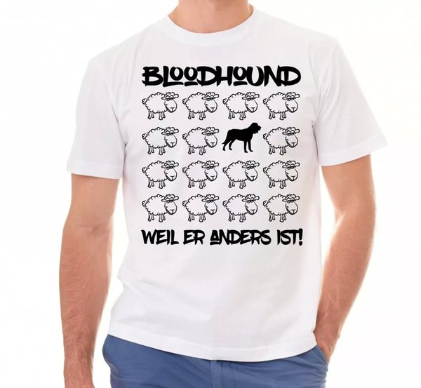 Bloodhound Unisex T-Shirt Black Sheep Men Dog Dogs Motif Bloodhound