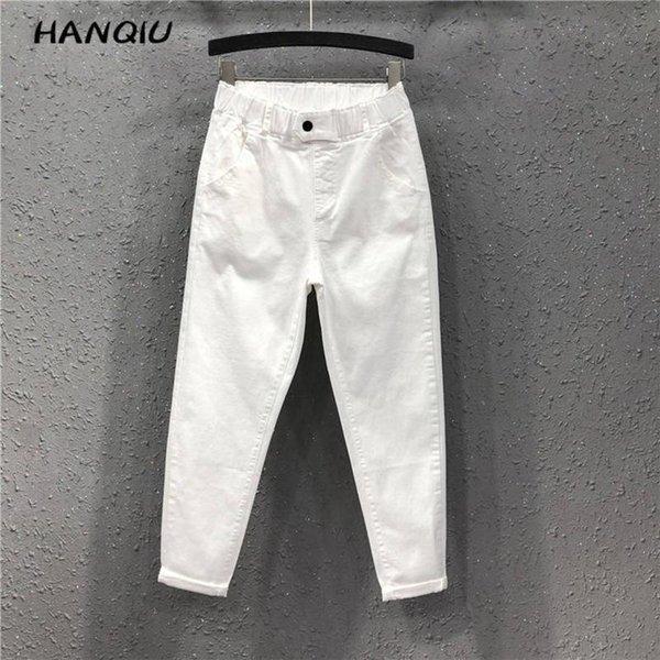 2021 Fashion boyfriend jeans for women mom high waisted jeans plus size black harem jeans trousers women denim pants streetwear