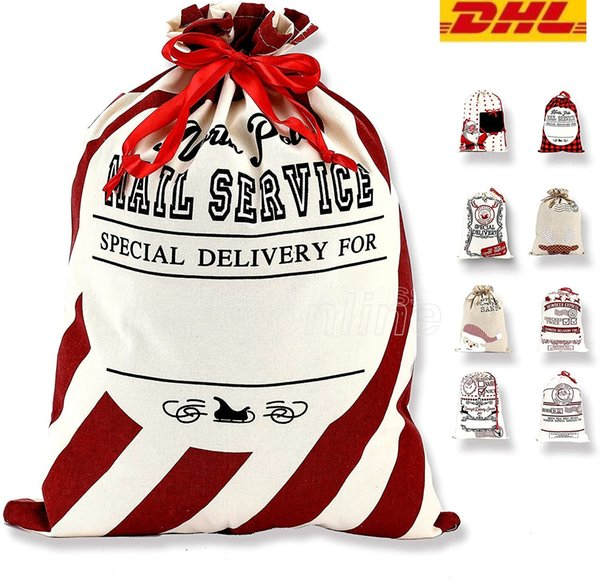 best selling Christmas Santa Sack Large Christmas Canvas Gift Bag with Drawstring Reusable Personalized Best Giftfor Xmas Package Storage