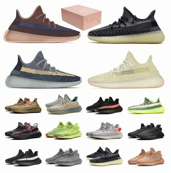 top popular 2021 Kanye Men V2 Running Outdoor Reflective Shoes West Mono Clay Ice Mist Women Ash Blue Pearl Stone Cinder Zyon Trainers Sneakers 36 F0WB# 2021