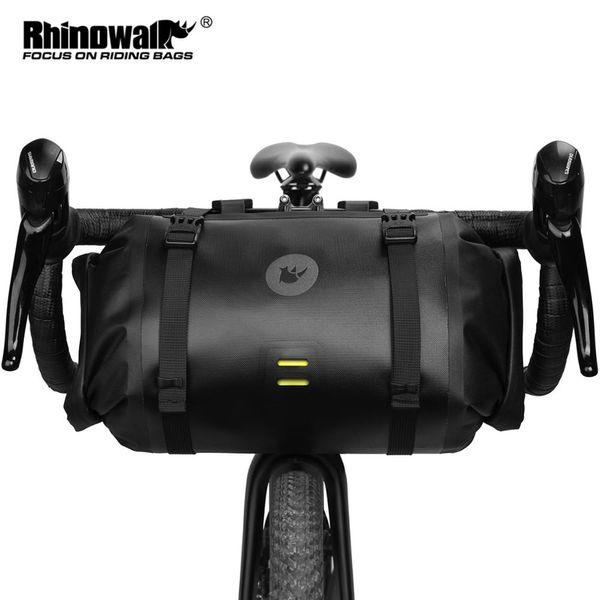 top popular Rhinowalk 2021 Handlebar Bag Bicycle Bag Waterproof Big Capacity 2-piece Front Tube Cycling Bag MTB Frame Trunk Bike ccessories 2021