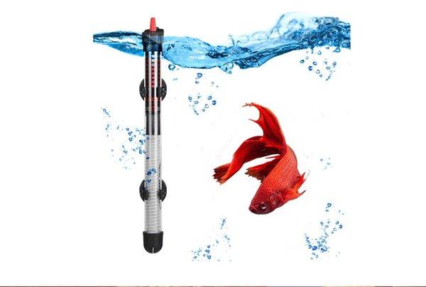 top popular 110v-240v Adjustable Temperature Thermostat Heater Rod 25W  50W  100W  200W  300W Submersible Aquarium Fish Tank Water Heat 2021