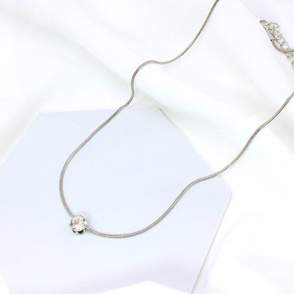 necklace dia silver